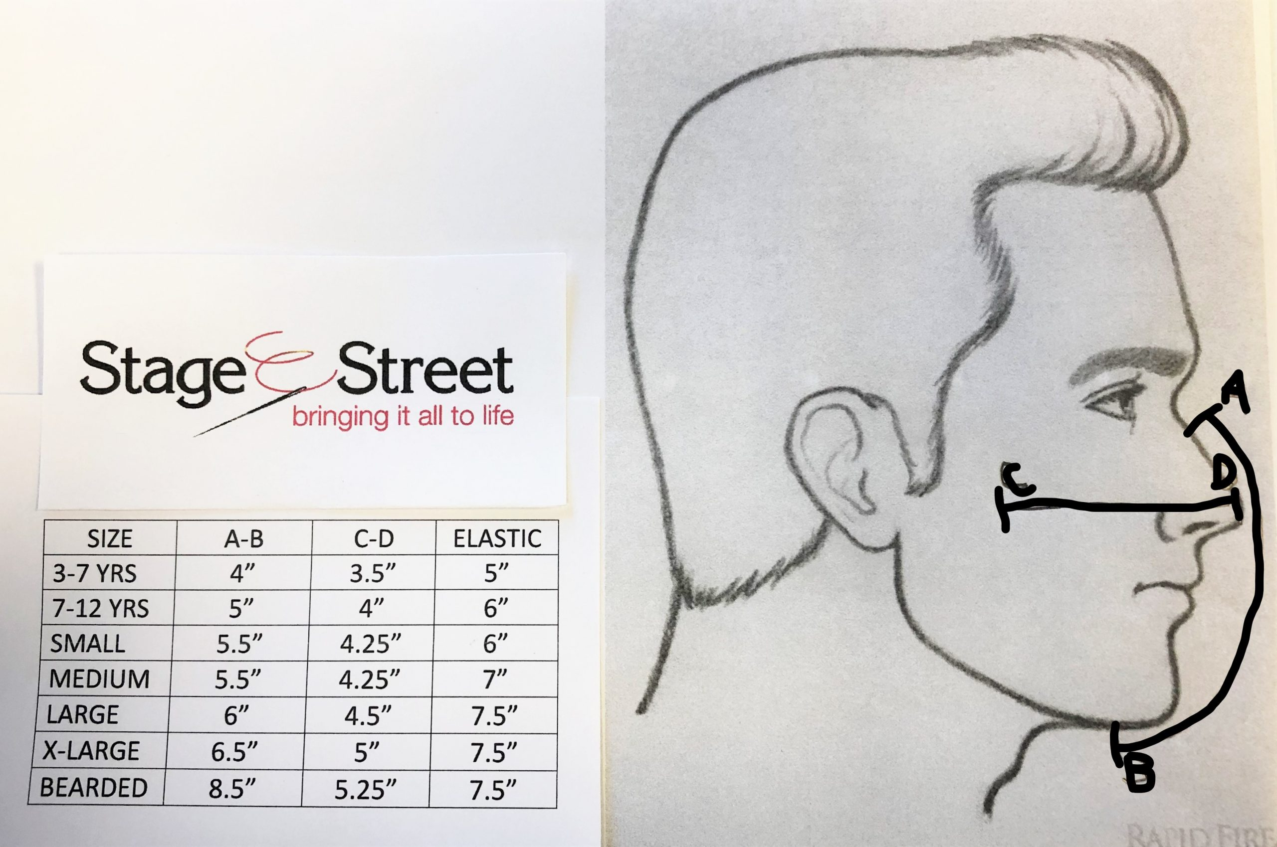 how to measure for a face mask